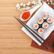 Red caviar, sushi set — Stock Photo #51512567