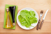 Plate with fresh salad — Stock Photo