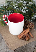 Cup for mulled wine — Stock Photo