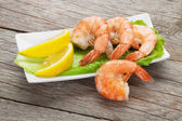 Cooked shrimps — Stock Photo