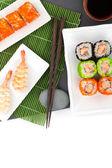Sushi maki and shrimp sushi — Stock Photo