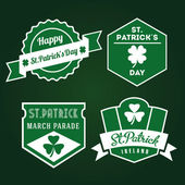 Happy St.Patrick old-fashioned badges — Stock Vector