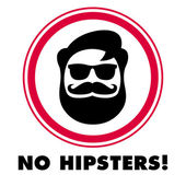 No hipsters sticker — Vetorial Stock