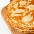 Stack of pancakes isolated on white background — Stock Photo