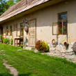Old stylish cottage house in Slovakian countryside - Stok fotoraf