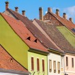 Red tiled roof of Budapest Old Town buildings — Stock Photo