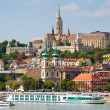 Stock Photo: View of Budside of Budapest with Castle, St. Matthias and