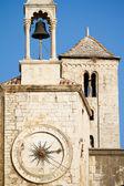 Beautiful clock tower in the old town of Split, Croatia — Stock Photo