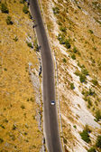 Aerial view of a desert highway — Stock Photo