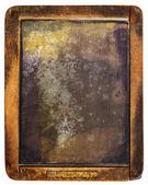 Vintage slake izole üzerine beyaz yazı tahtası — Stok fotoğraf