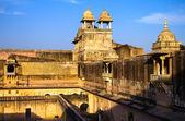 Pałac bursztynowy fort w pobliżu jaipur, radżastan, indie — Zdjęcie stockowe