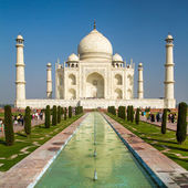 View of Taj Mahal, Agra, Uttar Pradesh, India — 图库照片
