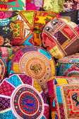 Colorful Indian pillows — Stock Photo