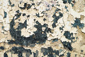 Oude verf op een grungy bijtende metalen achtergrond — Stockfoto
