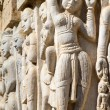 Stock Photo: Carved statues in Hindu temple in Hampi, Karnataka