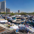 MUMBAI - 12 DECEMBER 2012: at Dhobi Ghat, the world's largest outdoor laundry — Foto de Stock