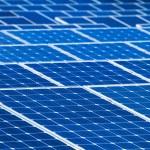 Solar batteries background — Stock Photo