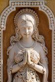 White marble Hindu statue in Rishikesh, Uttarakhand — Stock Photo