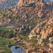 Stock Photo: Thungabhandrriver landscape in Hampi, Karnataka, India