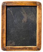 Vintage σβήνω μαυροπίνακα απομονωθεί σε λευκό — Φωτογραφία Αρχείου