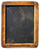 Vintage slake blackboard isolated on white — Stock Photo