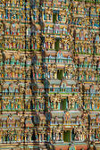 MADURAI, INDIA - MARCH 3: Meenakshi temple - one of the biggest and oldest Indian temples on March 3, 2013 in Madurai, Tamil Nadu, India. — Stock Photo