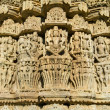 Carvings in Chaumukhtemple in Ranakpur, Rajasthan, India — Stock Photo #27055989