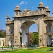 Stock Photo: Eastern gate of Mysore Palace. Karnataka, India