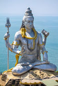 Statue du Dieu shiva temple murudeshwar dans karnataka, Inde — Photo