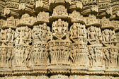 Carvings in Chaumukha temple in Ranakpur, Rajasthan, India — ストック写真