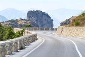 Mountain road curve in Meteora, Greece — Foto Stock