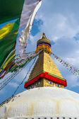 仏の知恵の目で仏教神社ボダナート — ストック写真