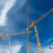 Construction cranes against blue sky — Stock Photo #31803495