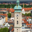 Stock Photo: View of Munich city center. Munchen, Germany