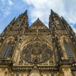 St.Vitus, Wenceslas and Adalbert Cathedral in Hradcany, Prague, — Stock Photo