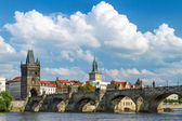 View of the Charles Bridge in Prague, Czech Republic — Stock Photo