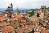 Vista del centro città alta di bergamo, lombardia, italia — Foto Stock