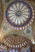 Ornamental interior of the Blue Mosque (Sultanahmet Camii), Ista — Stock Photo