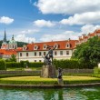 Stock Photo: Waldstein palace garden and building of Senate of Czech Republic