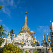 Pagodat Wat Saen Fang temple in Chiang Mai, Thailand — Stock Photo #37573567