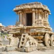 Stock Photo: Chariot and Vittaltemple at Hampi, India