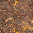 Pressed Chinese puer tea — Stock Photo