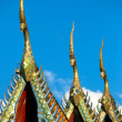 Gable apex on the roof of Buddhist temple in Thailand — Stock Photo