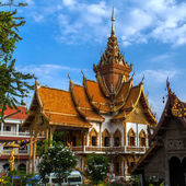 Wat Bubparam buddhist temple in Chiang Mai, Thailand — Stock Photo