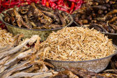 Small dry fish used in Asian cuisine — Stock Photo