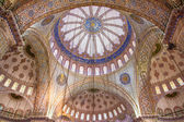 Ornamental interior of the Blue Mosque (Sultanahmet Camii) — Stock Photo