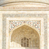 Taj Mahal building details at agra,Uttar Pradesh — Stock Photo