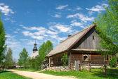 Belarus village of the 18th century wooden in Folk Architecture — Stock Photo