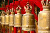 Bells in a buddhist temple of Thailand — Stock Photo