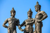 The Three Kings Monument in Chiang Mai, Thailand — Stock Photo